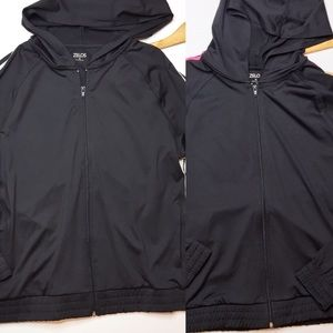 Lot of two black track jackets size medium